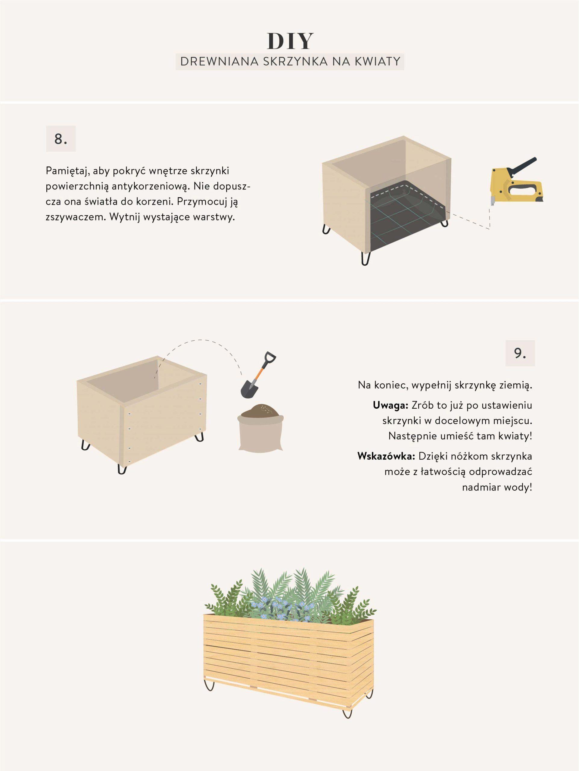 meble ze skrzynek instrukcia wykonania skrzynki na kwiaty