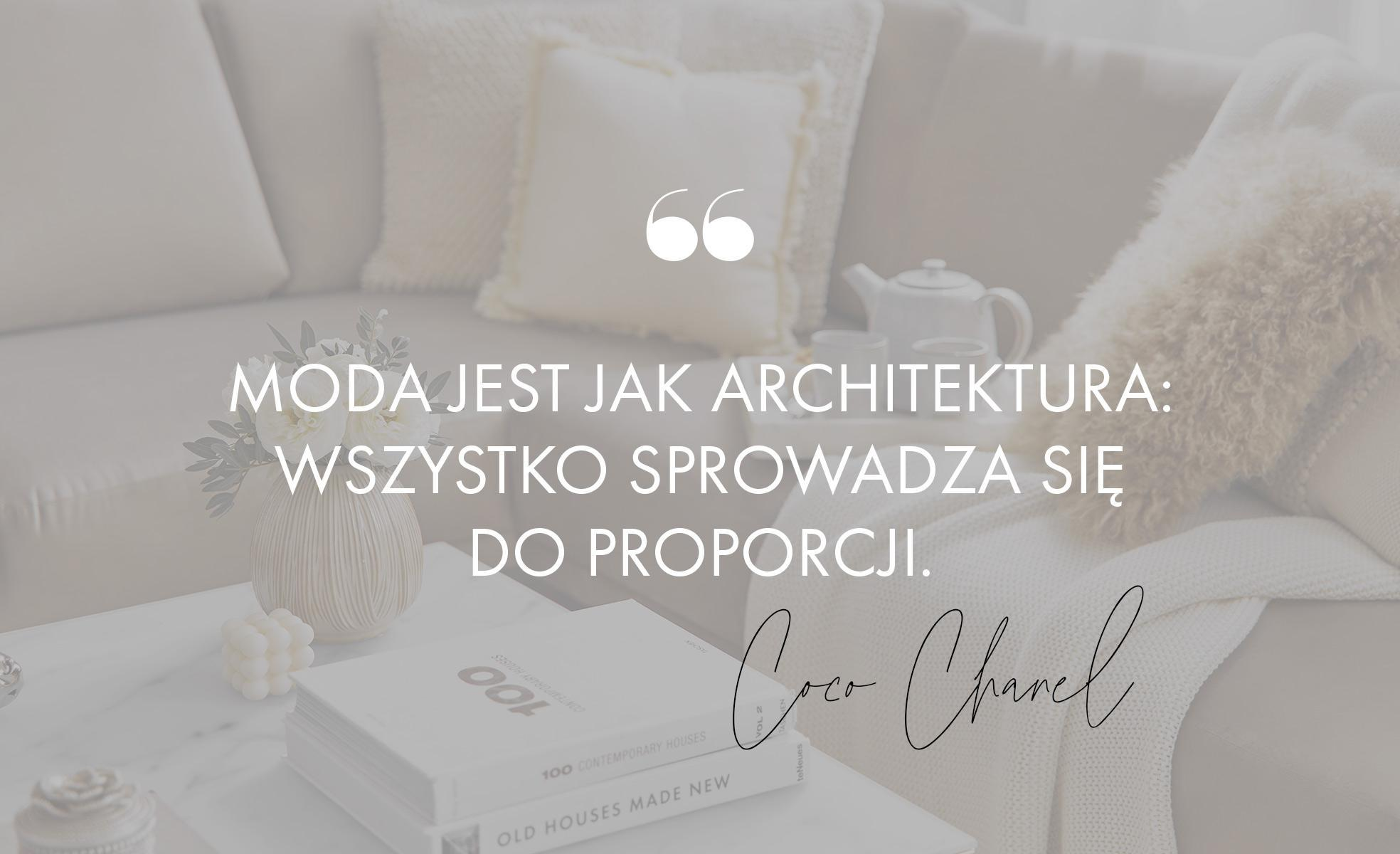 Cytat Coco Chanel o modzie
