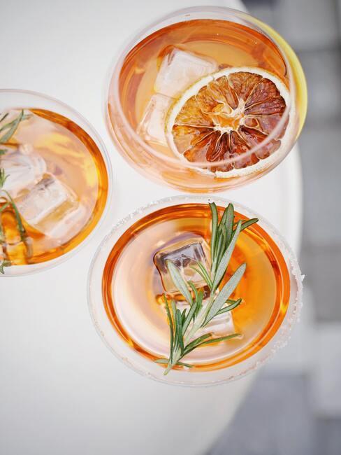 Drink z prosecco i rozmarynem