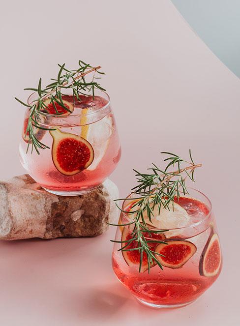drink z ginem i figą