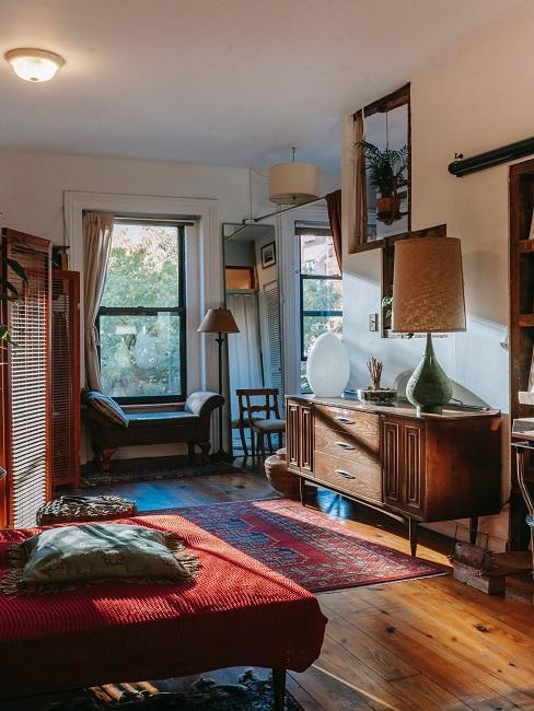 Salon w stylu vintage