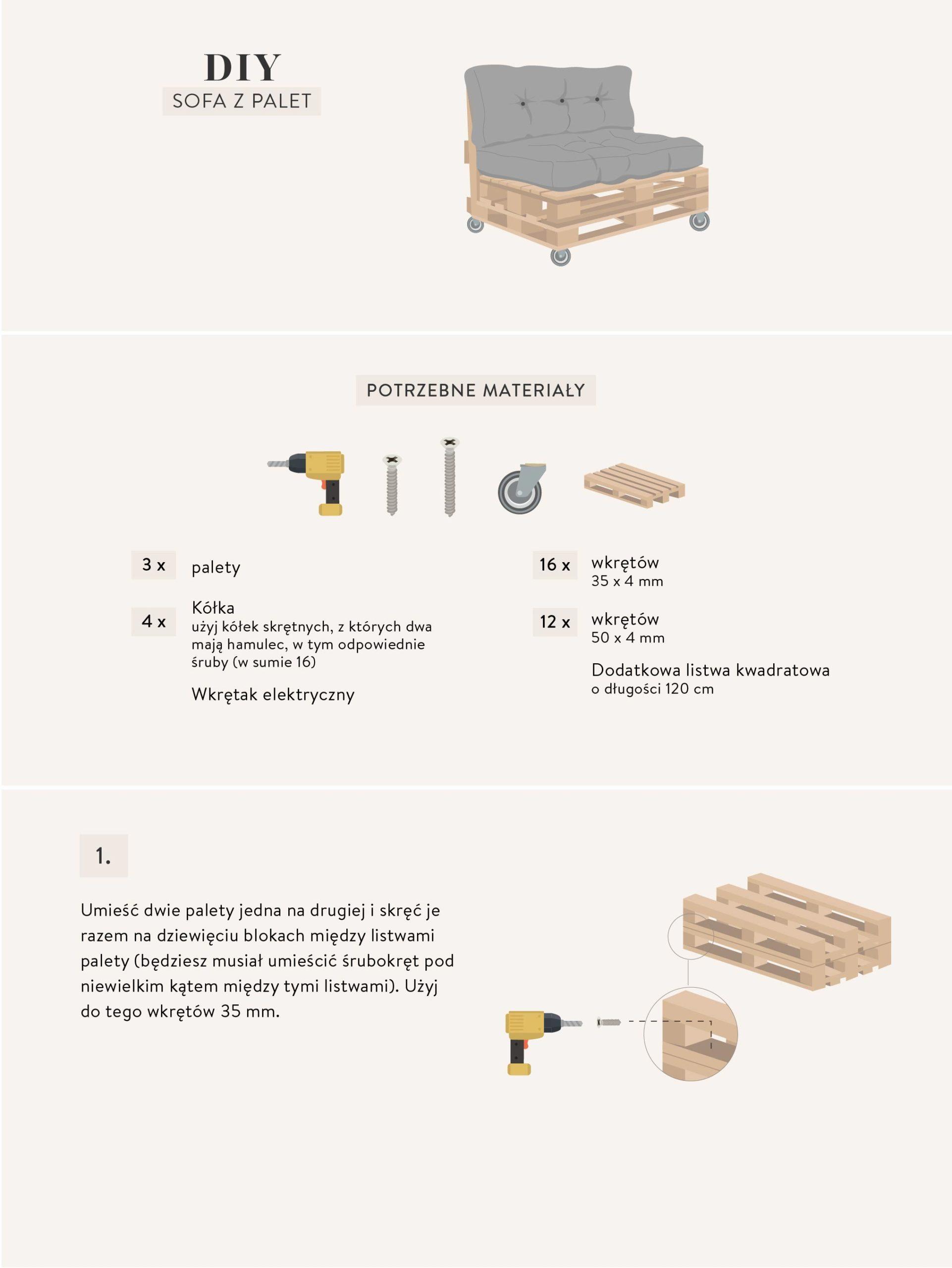 instrukcje do zrobienia ławki z palet