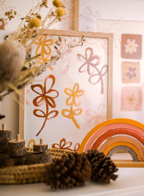 dekoracje do pokoju dziecięcego w stylu rustykalnym