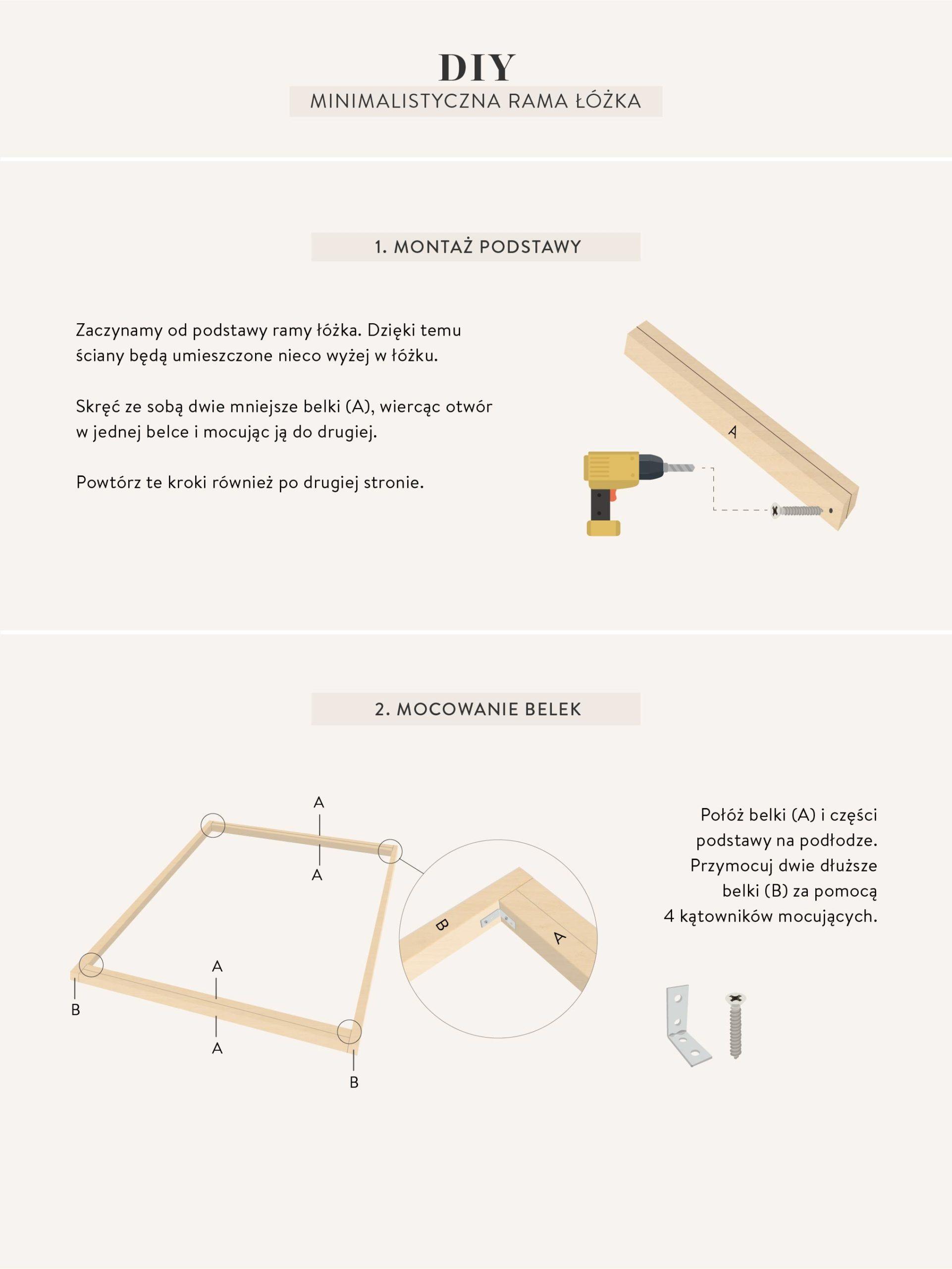 jak zrobić łóżko instrukcje DIY