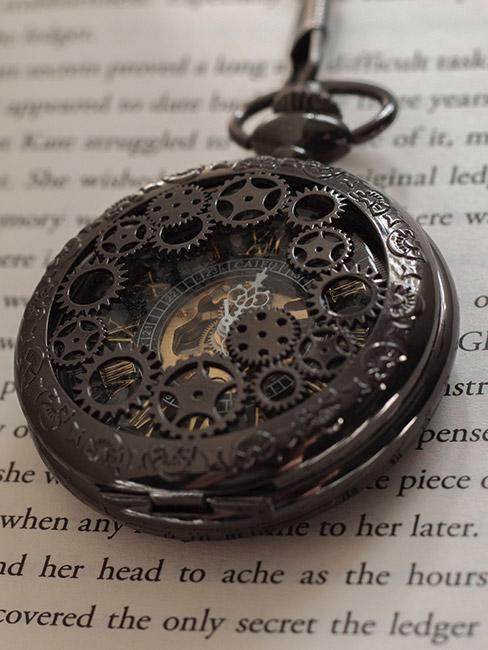 Kieszonkowy zegarek w stylu steampunk
