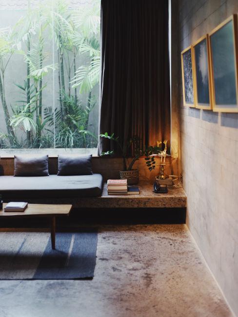 tynk dekoracyjny w nowoczesnym minimalistycznym lofcie