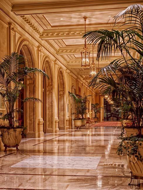 Pałacowe wnętrze w stylu art nouveau