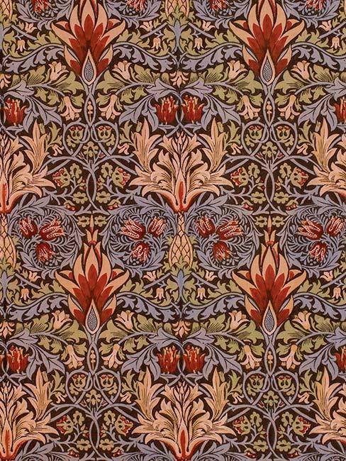Wzór williama morrisa z okresu art nouveau