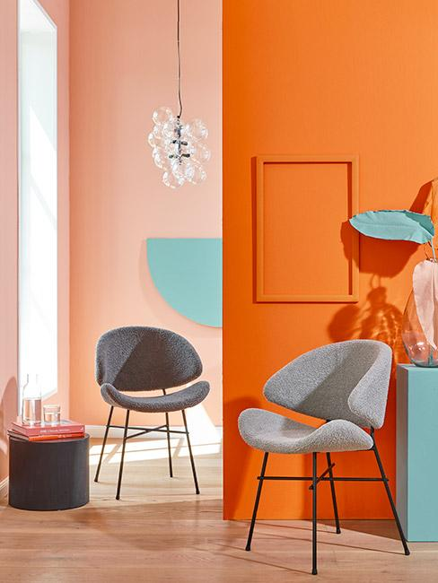 Salon w wyrazistych kolorach w stylu lat 80