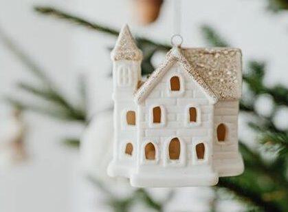 Ozdoba na choinkę w kształcie domu