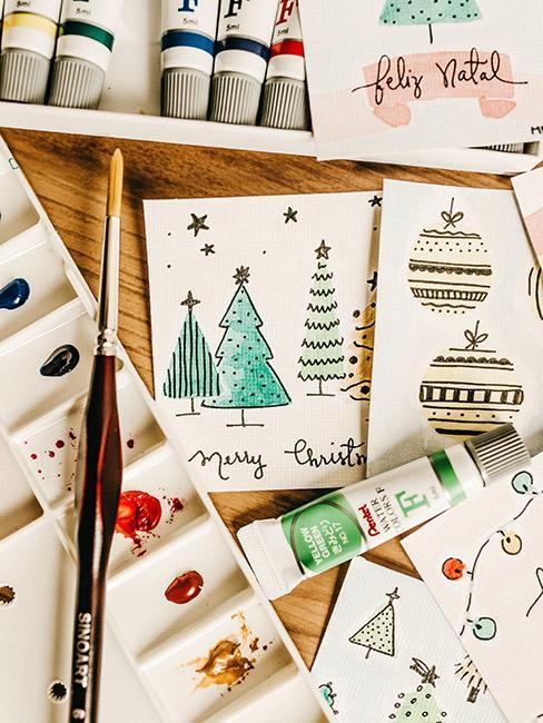 Ręcznie wykonane kartki świąteczne