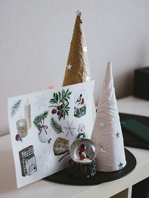 Choinki DIY z kartką świąteczną