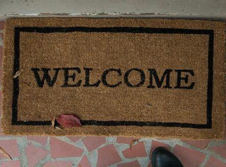 """Wycieraczka z juty z napisem """"welcome"""""""