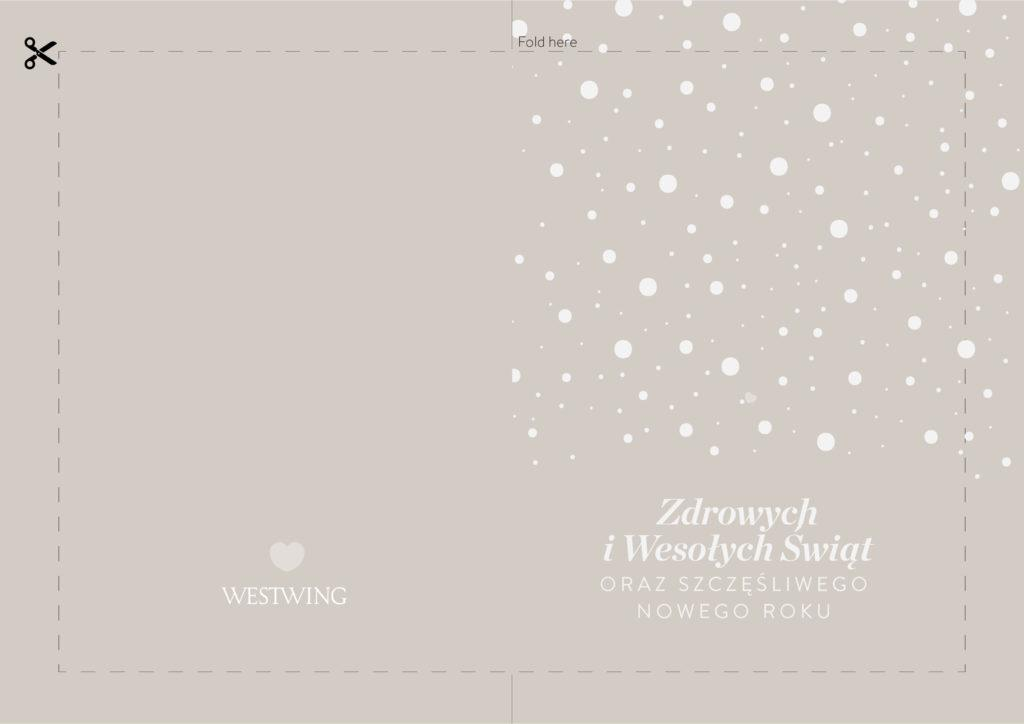 szablon kartki świątecznej do wydrukowania na szarobeżowym tle