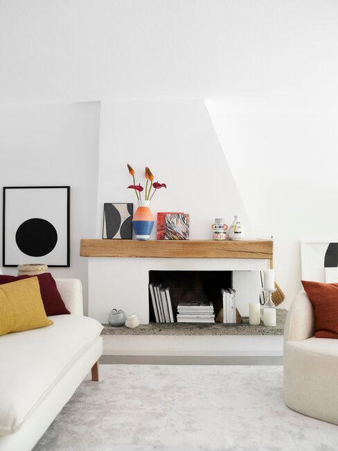 Rustikálny štýl vo svetlej obývačke