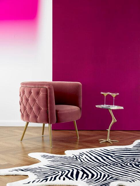 Farebný efekt steny v obývačke - Ombré