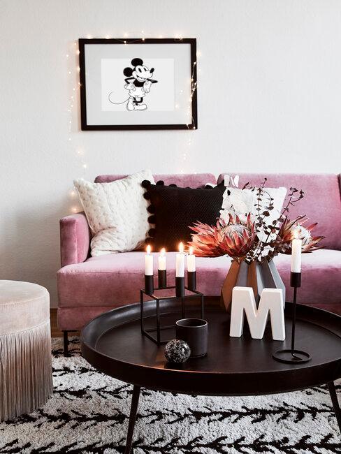 Pop art obraz v obývačke