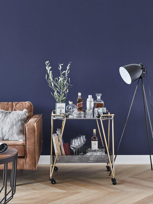 Servírovací stolík v obývačke