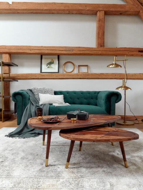 Nábytok v obývačke - vidiecky štýl