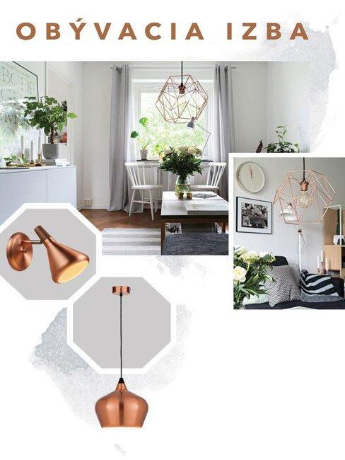 Osvetlenie interiéru - obývačka