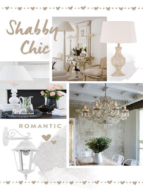 Osvetlenie interiéru - Shabby Chic
