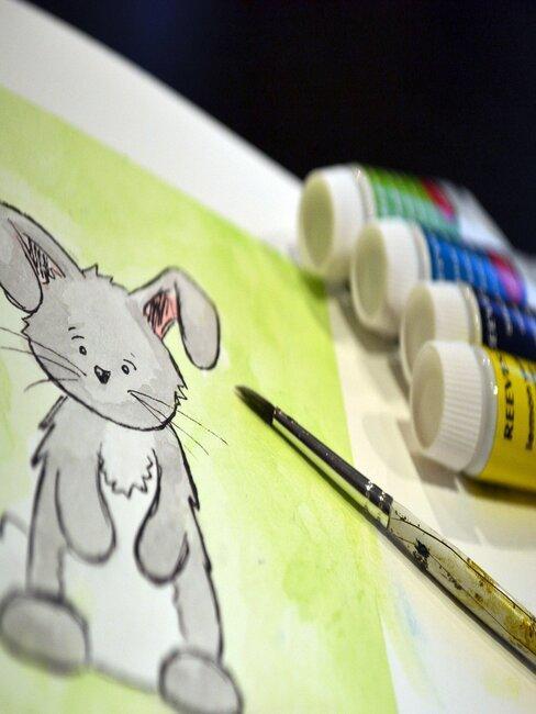 Veľkonočné pohľadnice - zajačik