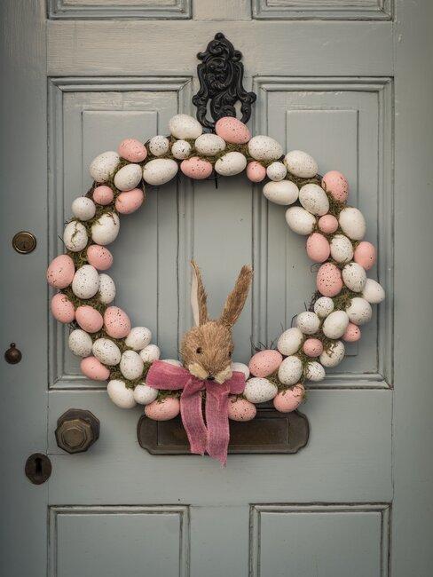 veľkonočná dekorácia: vchodové dvere