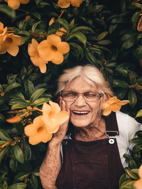 Babka v záhrade
