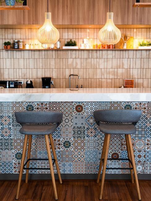obkladačky s portugalským motívom v kuchyni