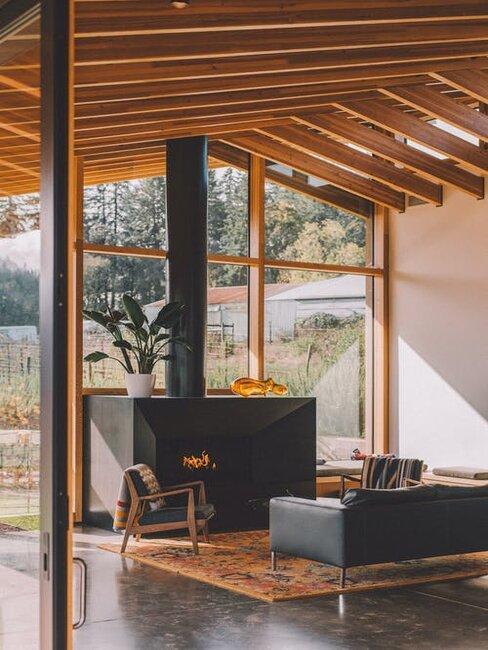 interiér v štýle rustikálnom