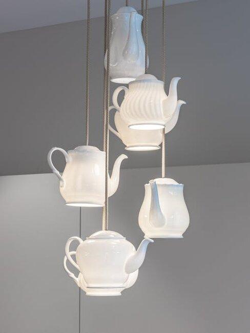 lampa ako čajník