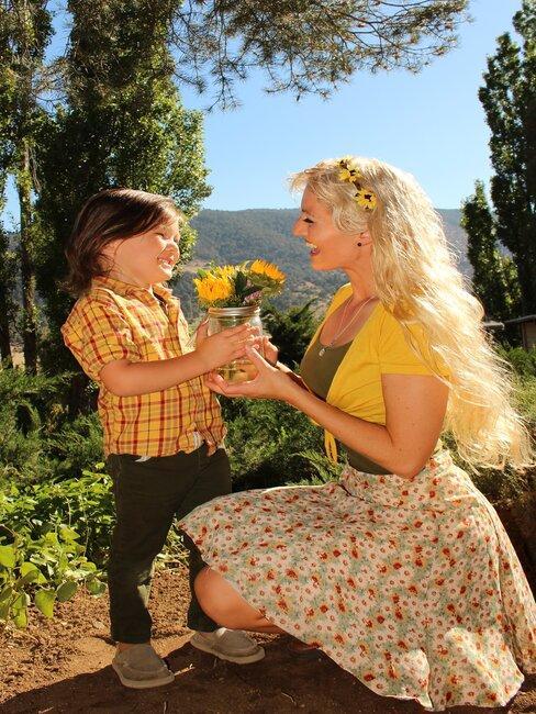 Vlastnoručne natrhané kvety pre mamu