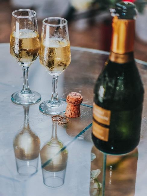 Darčeková fľaša s dvomi pohármi