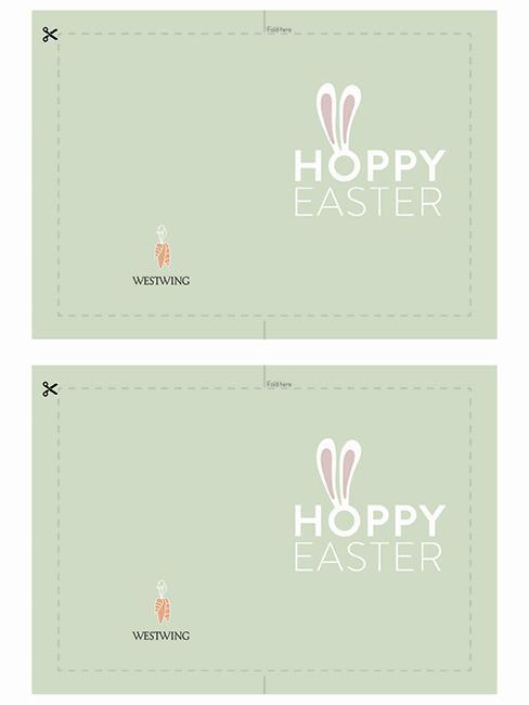 DIY veľkonočné pohľadnice - zajačie uši