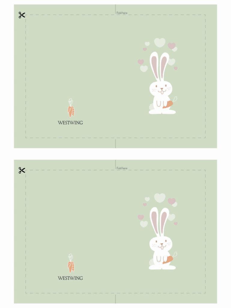 DIY veľkonočné pohľadnice - zajačik