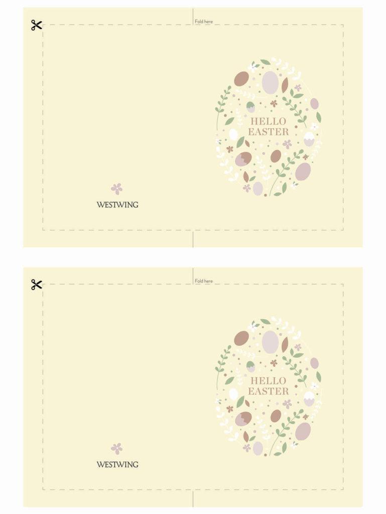 DIY veľkonočné pohľadnice - veniec