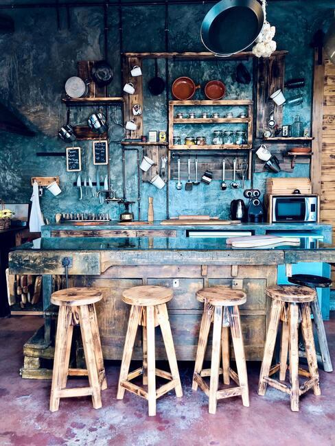 Moderný vidiecky štýl kuchyne