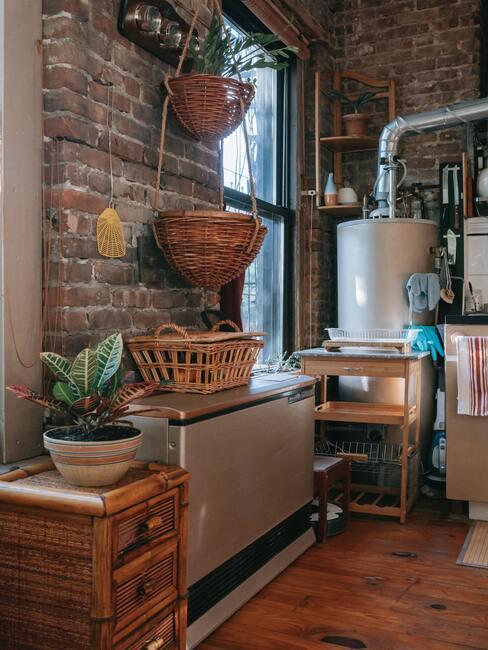 Prírodné materiály v kuchyni