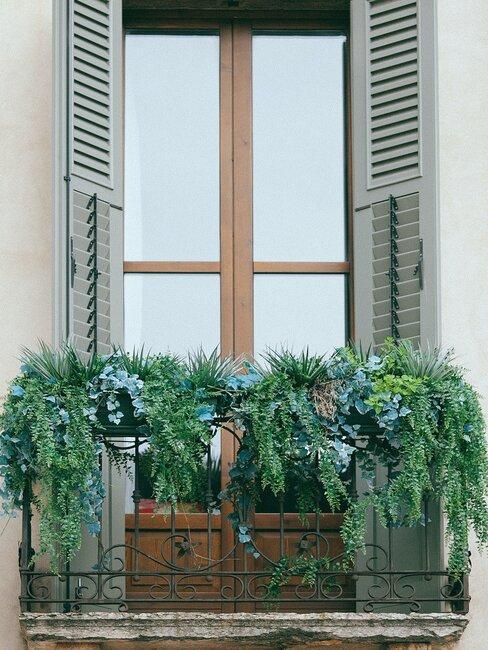 zelený balkón