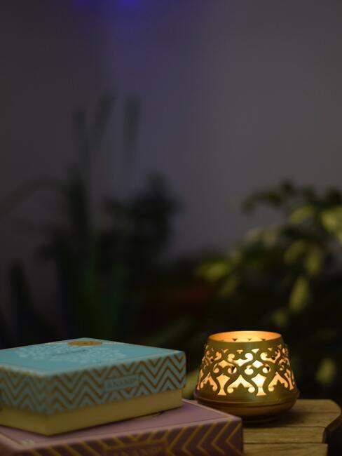Sviečky ako osvetlenie na terasu