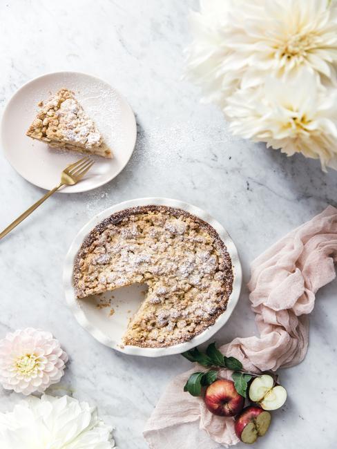 Jablkový koláč s cukrom z blogu LaPetit