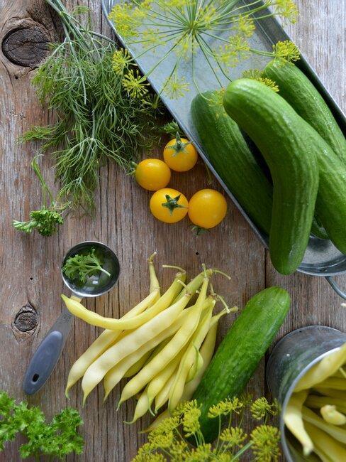 uhorky na stole