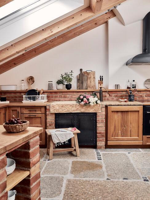 Zariadenie rustikálnej kuchyne