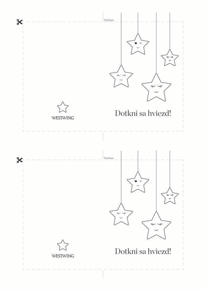 Čierno-biela pohľadnica: dotkni sa hviezd