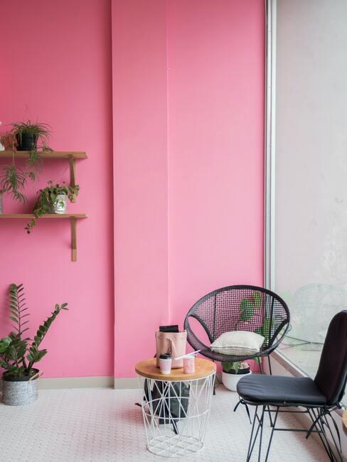 Ružový interiér
