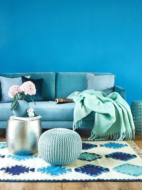 Tyrkysová farba v interiéri