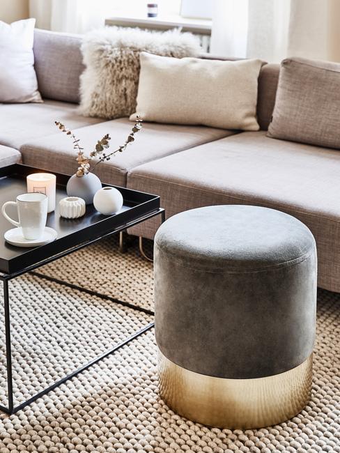 Farba roka v obývačke: sivá