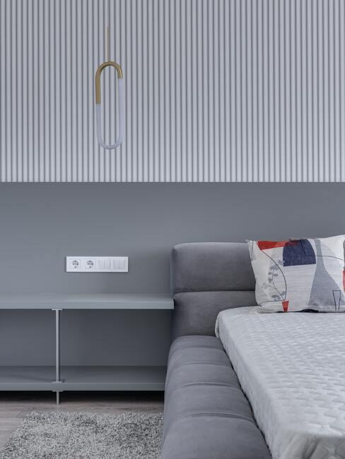 Spálňa v sivej farbe