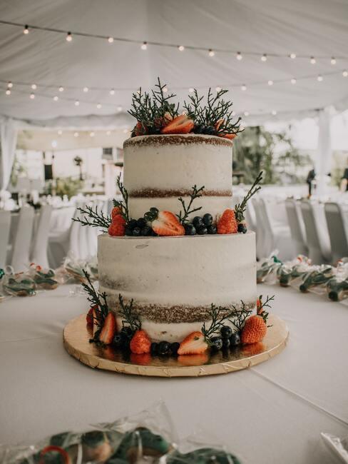 Svadobné torty s lesným ovocím a ihličím