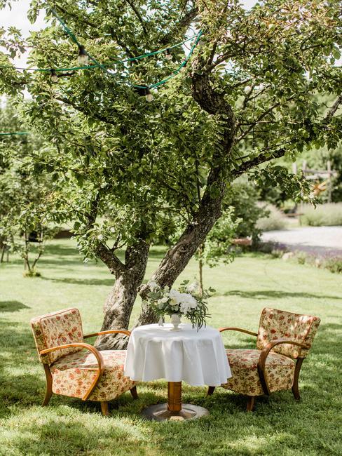 Wiegerova vila: posedenie na záhrade